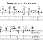 ミスチル・Tomorrow never knowsのイントロをギターで弾く